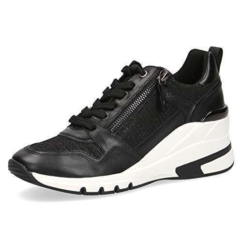 CAPRICE Damen Halbschuhe, Frauen Low-Top Sneaker,lose Einlage,Weite: G (Normal),schnürschuhe,schnürer,Halbschuhe,Black Comb,37 EU / 4 UK