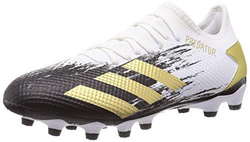adidas Predator 20.3 L MG, Bota de fútbol, White-Gold Metallic-Core Black, Talla 8.5 UK (42 2/3 EU)