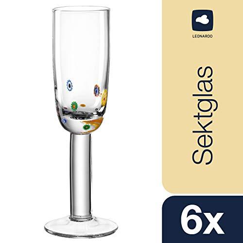 Leonardo Sekt-Glas Set/6 Millefiori (8,95 EUR pro Stück)