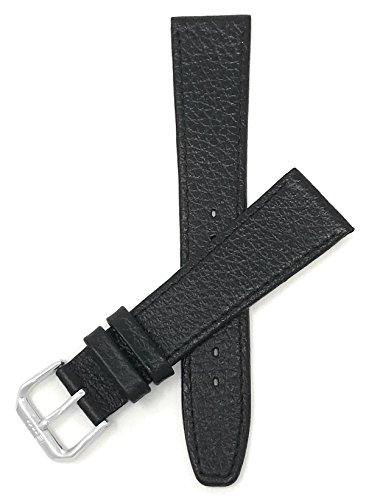 Extra Lang (XL) Leder Uhrenarmband 20mm Schwarz, Büffelmotiv, auch verfügbar in braun