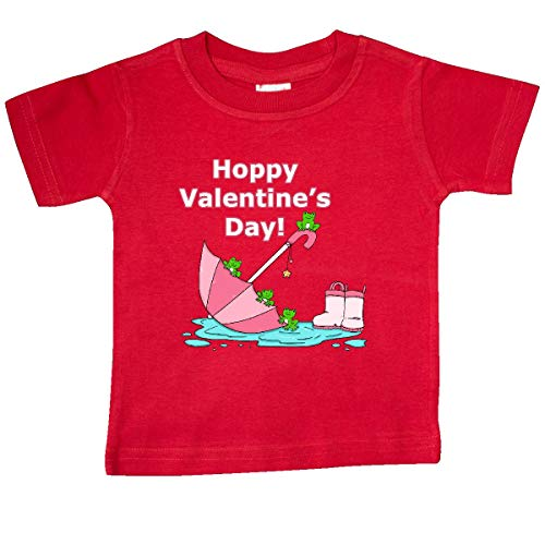 inktastic Hoppy Valentine's Day with Cute Frogs Baby T-Shirt 18 Months Red 3997f