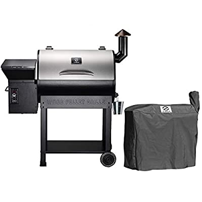 Z GRILLS ZPG-7002E Wood Pellet Grill BBQ Smoker for Outdoor Cooking, 2020 Upgrade, 8-in-1 & Pid Controller (Grill with cover)