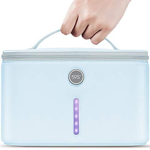 59S UV Light Sanitizer Bag with 24 UVC LEDs, Portable XL UV Phone Sanitizer Box, Extra Large UV-C Light Sterilizer Bag P55 for Cell Phones, Bottle, Masks, Kills 99.9% of Viruses, Germs, and Bacteria
