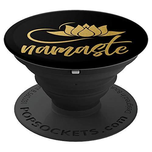 Namaste Lotus Blume | Yogi Joga Yoga - PopSockets Ausziehbarer Sockel und Griff für Smartphones und Tablets