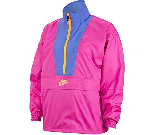NIKE NSW ICN Clsh Jkt Sport Jacket, Hombre, Fire Pink/Sapphire/Laser Orange, XS