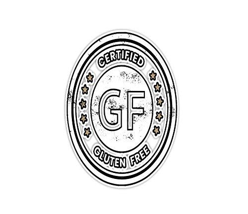 Sticker Certified Gluten Free Seal, Funny Grain Free 3'×4' Decals for Laptop Window Car Bumper Helmet Water Bottle (3 PCs/Pack)