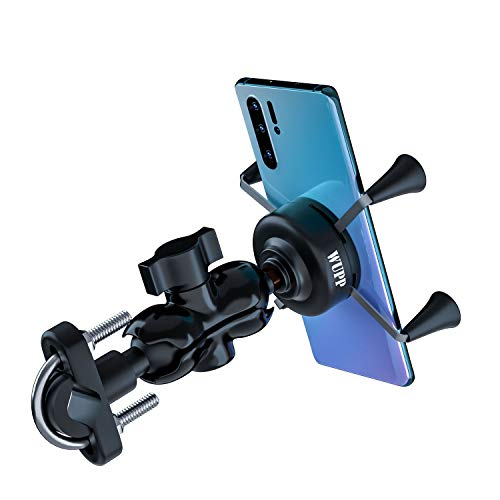 TR Turn Raise Universal Motorrad Halterung Drehbare Handy-Halter mit USB-Ladegerät für 3.5 to 6 inch Screen