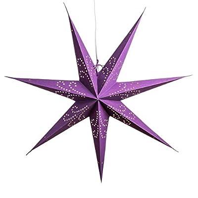 Purple Paper Star Lanterns