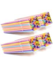 COM-FOUR® 400x Buigbaar rietjes, rietjes in verschillende felle kleuren
