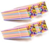 com-four® Pajitas Plegables 400x, pajitas Brillantes