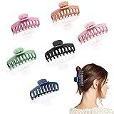 Pinzas Pelo Mujer 6 Piezas Pinzas para el Pelo Plástico Garra de Pelo Clips Hebillas de Pelo Grandes Clips Pelo Para Mujeres