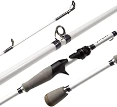 Akataka M'Wave Bass Fishing Rod - 2pcs Collaspible Casting Rod Spinning Rod with 24Ton Carbon Fiber,Durable Reel Seat, Efficient Heat Dissipation Guide (Casting-7'6