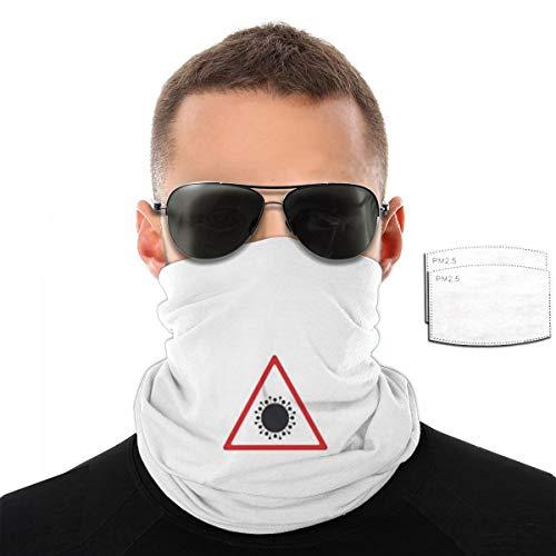 Illustrations Concept c-o.vi-d Balaclava Headwear With Filter Seamless Rave Bandana Face Mask For Men Women Neck Gaiter Scarf