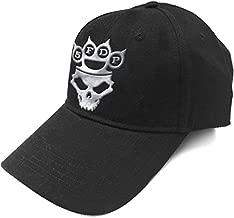 Five Finger Death Punch Baseball Cap Band Logo Silver Official Black Strapback