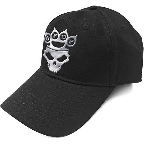 Five Finger Death Punch Baseball Cap Band Logo Silver Official Black Strapback Size One Size