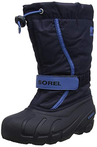 Sorel Unisex-Kinder Youth Flurry Schneestiefel, Blau (Collegiate Navy/Atmosphere), 36 EU