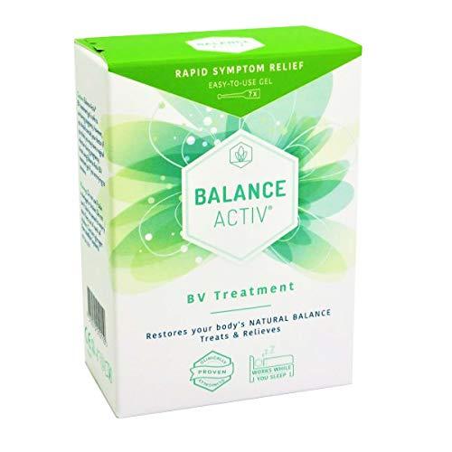 Gel Balance Active - Pack de 7 Tubos - Eficaz contra la vaginosis bacteriana, para tratar sus síntomas y para uso preventivo, restableciendo el PH