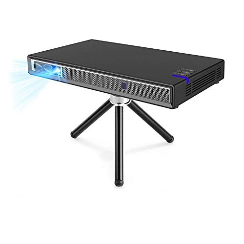 IJNBHU Mini proyector de Video, proyector con Soporte de Control Remoto 4K Incorporado 2.4G / 5.8G Dual WiFi Estéreo WiFi Bluetooth Hdmi Corrección Trapezoidal Negro