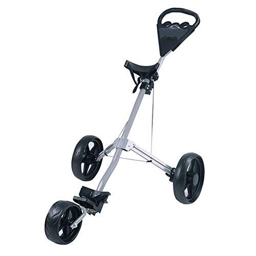 Golf Trolleys, 3-Rad Golf Trolley Stand Anzeigetafel Golf Caddy Leichter Trolley Leicht zu tragen und zu Falten, mit Bremse
