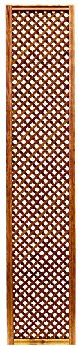 Celosía De Madera Tratada para Decoración De Terrazas, Jardines y Exteriores - Teca (228x46 cm)