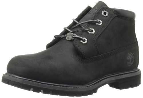 Timberland Women's Nellie Double Waterproof Ankle Boot,Black,8.5 M US