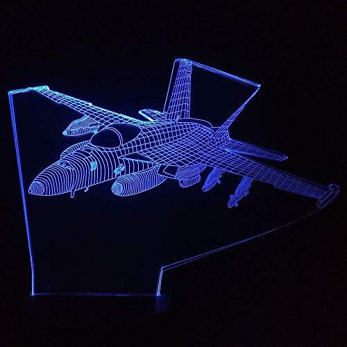3D-led-nachtlampje voor decoratie van het huis, 7 kleurverandering, vliegtuig, modelbouw, tafellamp, USB, vliegtuig, bed voor kinderen, leuk cadeau voor vakantie