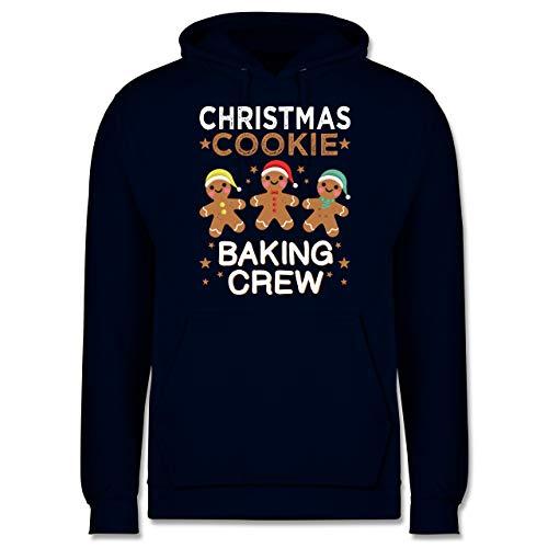 Weihnachten & Silvester - Christmas Cookie Baking Crew - 3 Kekse - XS - Navy Blau - Geschenk - JH001 - Herren Hoodie und Kapuzenpullover für Männer