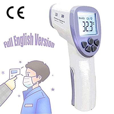 Digital Infrared Thermometer Gun for Fever Non-Contact Body Thermometer Forehead Portable Professional Adult Baby Medical Improved Accuracy