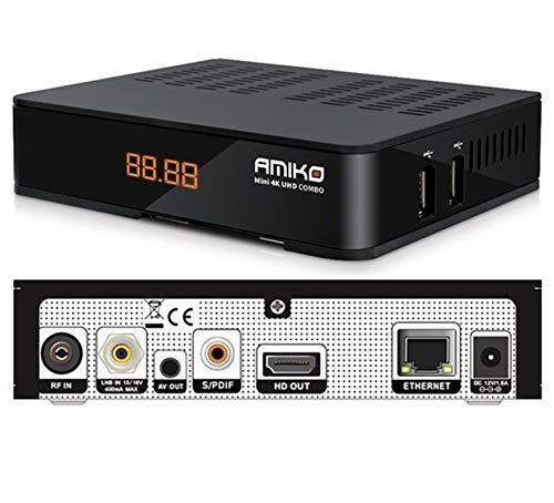 Decodificador satélite y digital terrestre Ultra HD 4K DVB-S2 DVB-T2 Combo compatible con Tivusat