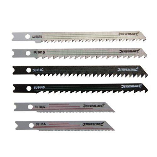 Silverline 234292 - Juego de cuchillas universales para sierra de calar, 30...