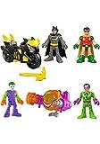 Imaginext DC Super Friends Dueling Duos Gift Set - Batman, Robin, Joker, Riddler, Batcycle & Joker Vehicle
