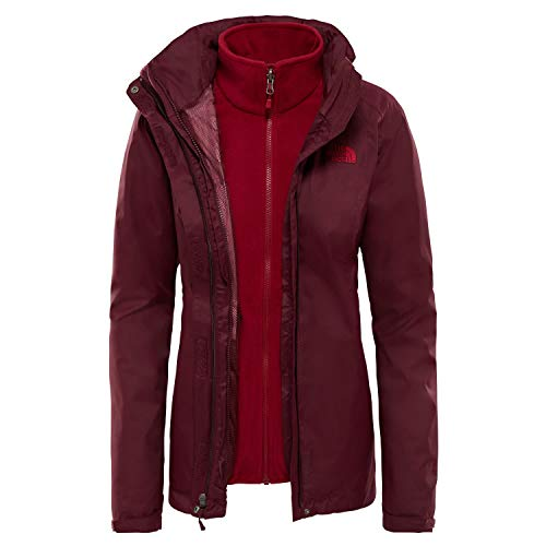 THE NORTH FACE Womens Evolve II Triclimate Jacket, XS, fig Brown/Rumba red 5PF