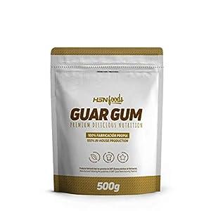 Goma Guar de HSN | Espesante Natural y Saludable para Recetas | Fuente de Fibra, Saciante | Vegano, Sin Gluten, Sin Lactosa, En Polvo, 500g