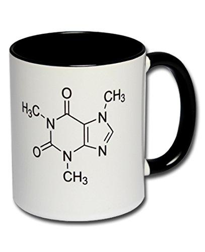 Spruchtasse Funtasse Bürotasse Kollegentasse Kaffeebecher Kaffeetasse Tasse mit Aufdruck Koffein-Formel