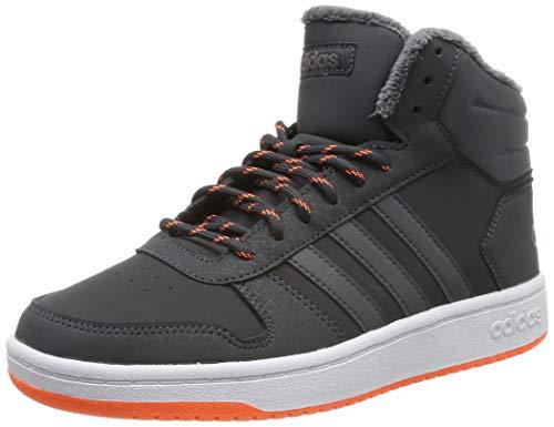 adidas Unisex-Kinder Hoops Mid 2.0 Basketballschuhe, Grau Carbon/Grefiv/Hireor, 33 EU