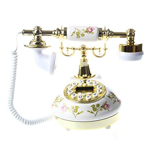 Cobeky Antiguo Diseñador Teléfono Nostalgia telescopio antiguo teléfono de cerámica MS-9100