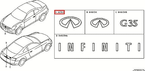 Infiniti Genuine Miscellaneous Max Limited price sale 53% OFF Emblem Front Name Label