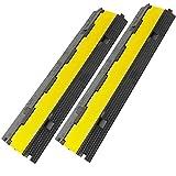 PrimeMatik - Pasacables de Suelo 2 vías 98 cm para protección de Cables eléctricos 2 Pack