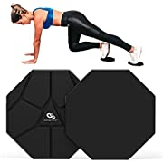 Coresteady Core Sliders - [Pack of 2] Dual-Side Exercising Gliders with Octagonal Design (8 Sides), Non-Slip Core Gliding Discs to Contour Body, Strengthen Core | Travel Bag & E-Guide Included