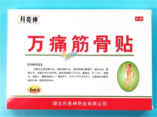 2 Pack Wan Tong Jin Gu Tie 万痛筋骨贴 Neck, Shoulder, Waist and Leg Bone Joint Pain Relieving(6 Patches/one Pack)