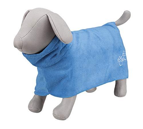 Trixie Bademantel/Hunde, Gr. L, Mikrofaser, 60 cm, blau - 3