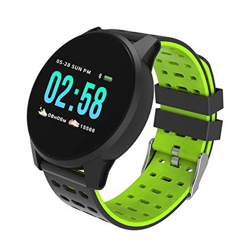 Oyznsb polshorloge, bluetooth, smartwatch, armband voor mannen, vrouwen, meisjes, activiteiten, sport, fitness, tracker, Groen