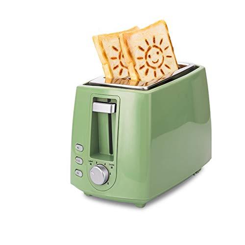 XIAOSAKU Tostadoras Pan Conductor Tostador Tostador Tostador Inicio automático de la Rebanada pequeña tostadora Fácil de Limpiar