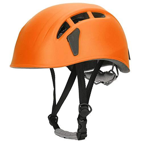 oueaen Casco da Esterno-Casco Protettivo per la Protezione della Testa per Lo Sport all'aperto per Alpinismo Arrampicata su Pattini a rotelle(Arancia)