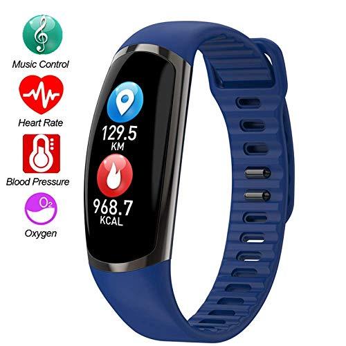 Sailormjy Fitnesstracker, waterdichte stappenteller, stappenteller voor kinderen, vrouwen, mannen, oproepen, sms, push, voor iOS en Android A