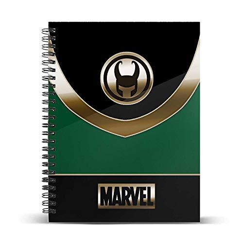 KARACTERMANIA Marvel LOKI-Quaderno a Quadretti DIN A5