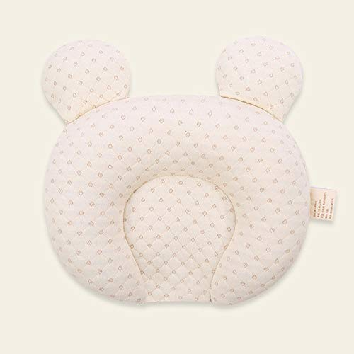 Inchant Anti Flat Head Baby Pillow,Orthopedic Baby Pillow Anti-Flat Head Heals Deformation of Baby and Prevention of Plagiocephly Baby Pillow Star Gray