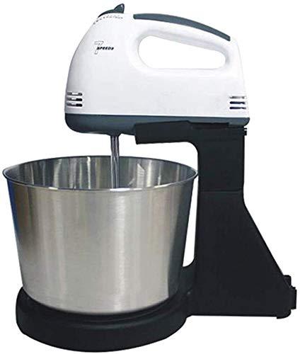 JINHH Batidora De Pie, Robot De Cocina 2 En 1 De Mano Y Diseño Uso Doble Cara Gran Fuerza De Arrastre 7 Opciones De Velocidad con 1,8 L De Cuenco Y Batidora 4 Anexos