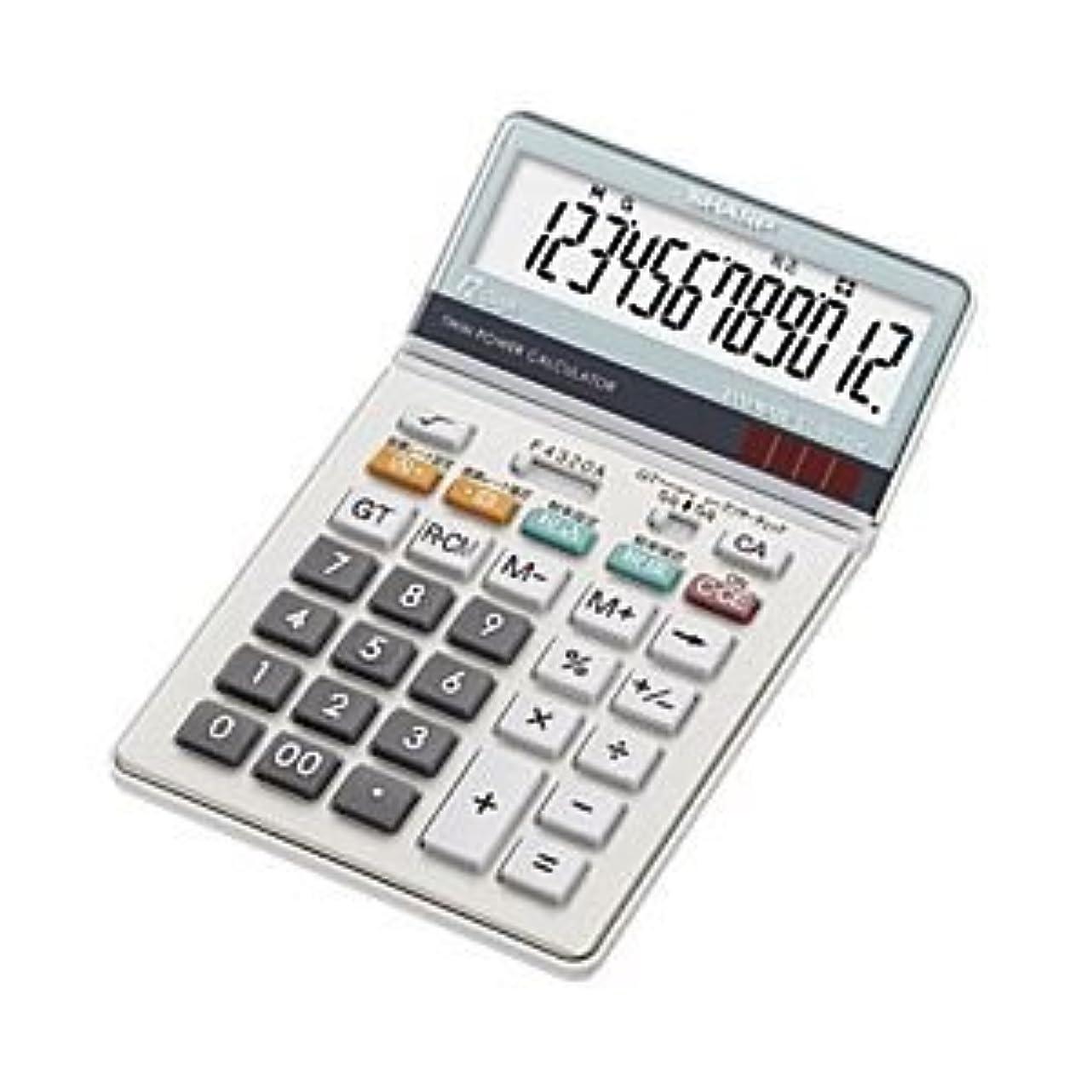 賞医師お互い(業務用セット) シャープ 中型電卓 12桁 縦18.5×横11.2×厚さ2.6cm EL-N732-X 1個 【×2セット】 ds-1644682