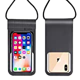Tarkan Spot IPx8 Leather + TPU Touch Waterproof Travel Pouch for Mobile Phones
